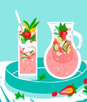 jus-fraise-framboises-menthe