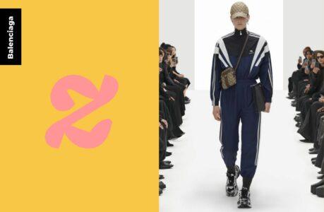 Balenciaga, son vrai « faux » Gucci, et son survêt rentré dans les chaussettes résument l'ironie de la mode
