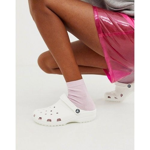 Crocs unies blanches