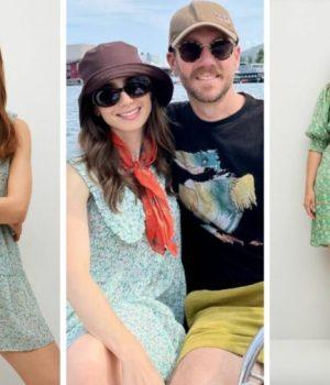 Lily Collins en robe claudine cottagecore peut inspirer quelques looks d'été
