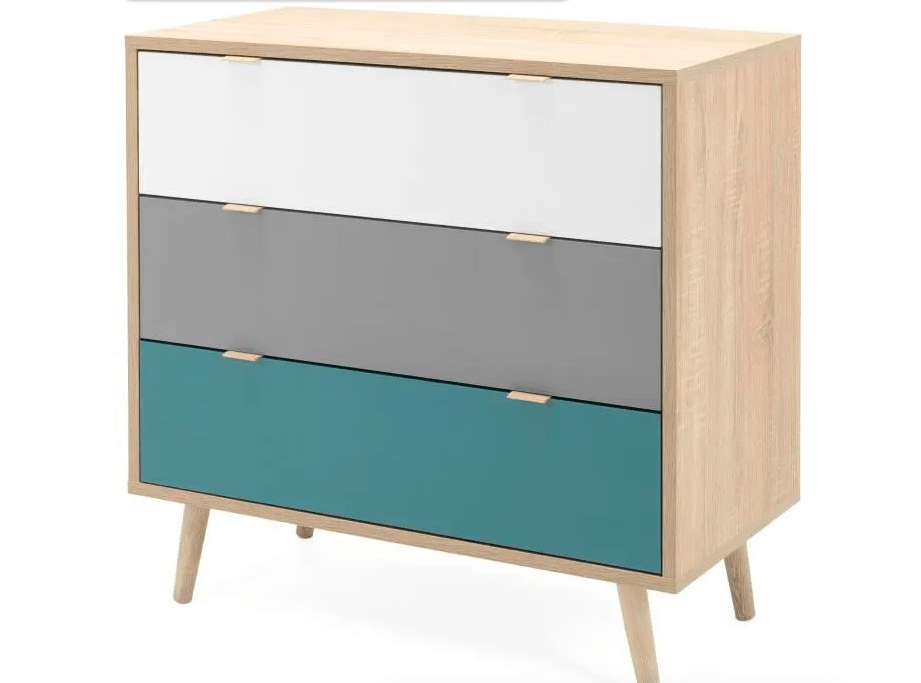 Commode trois tiroirs – style scandinave – 99€99 149,00 €