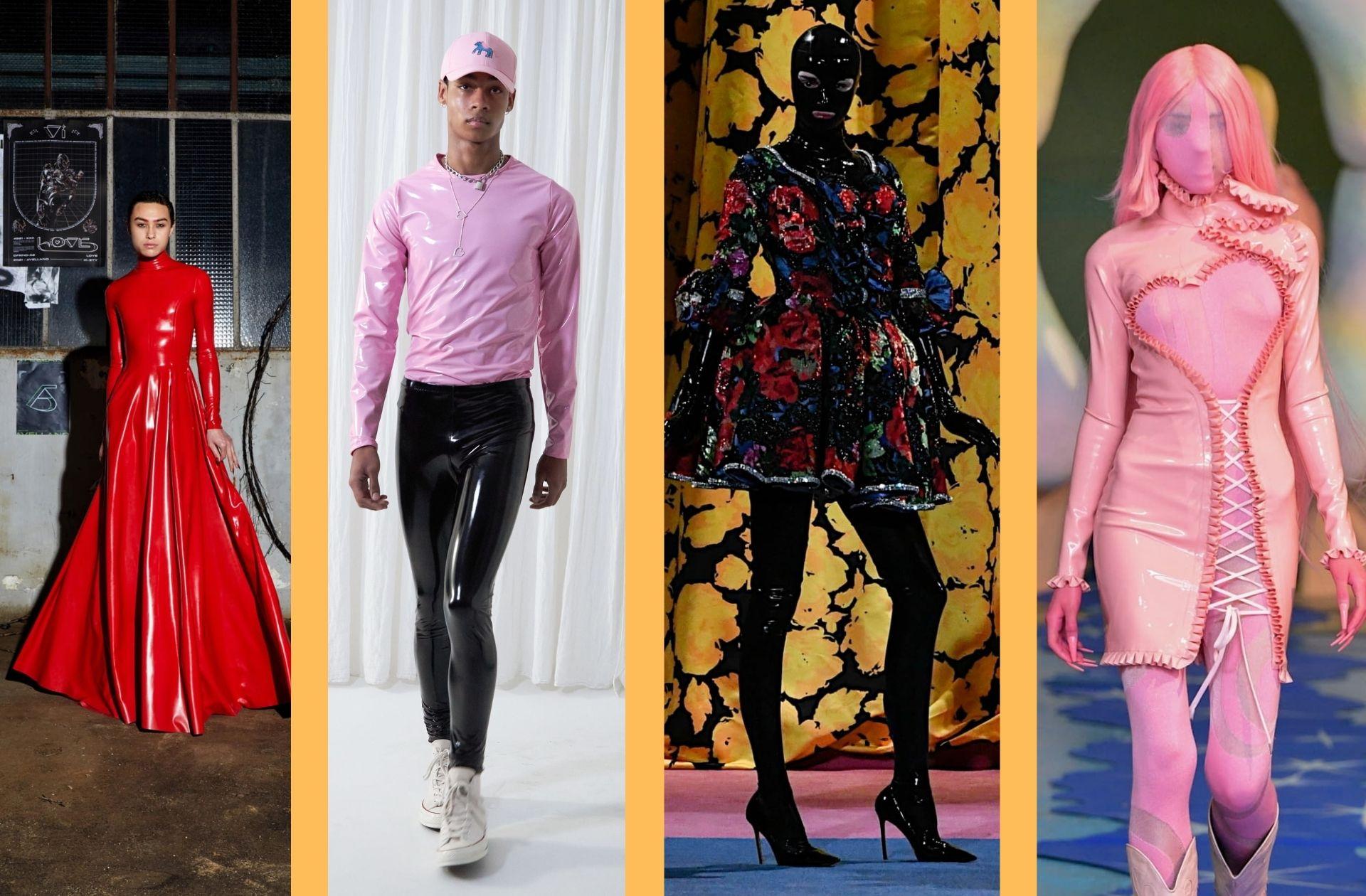 Des codes fetishwear chez les jeunes créateurs Arthur Avellano ; Lazoschmidl ; Richard Quinn ; Neith Nyer.