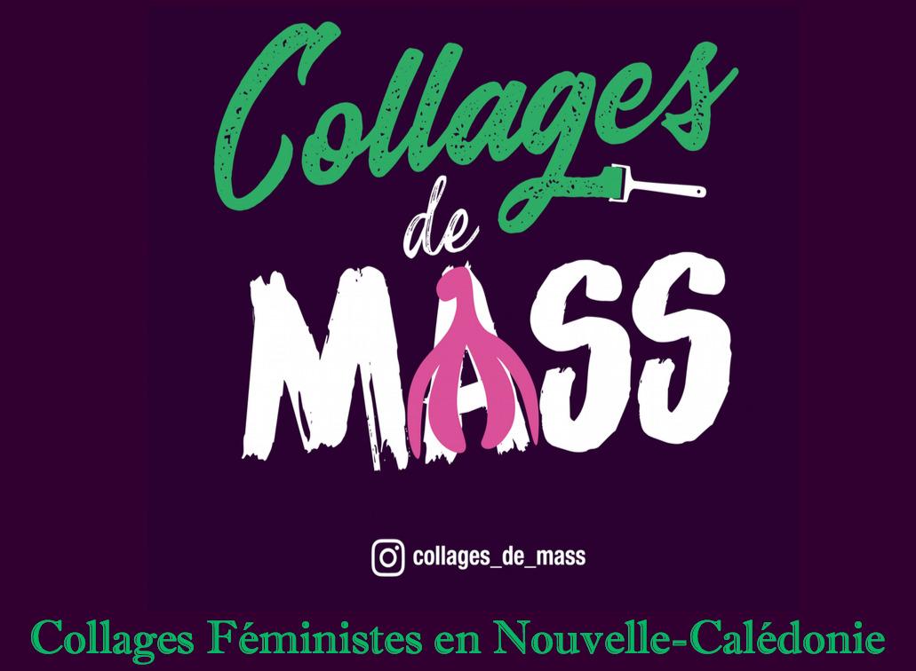Logo du collectif calédonien Collages de Mass