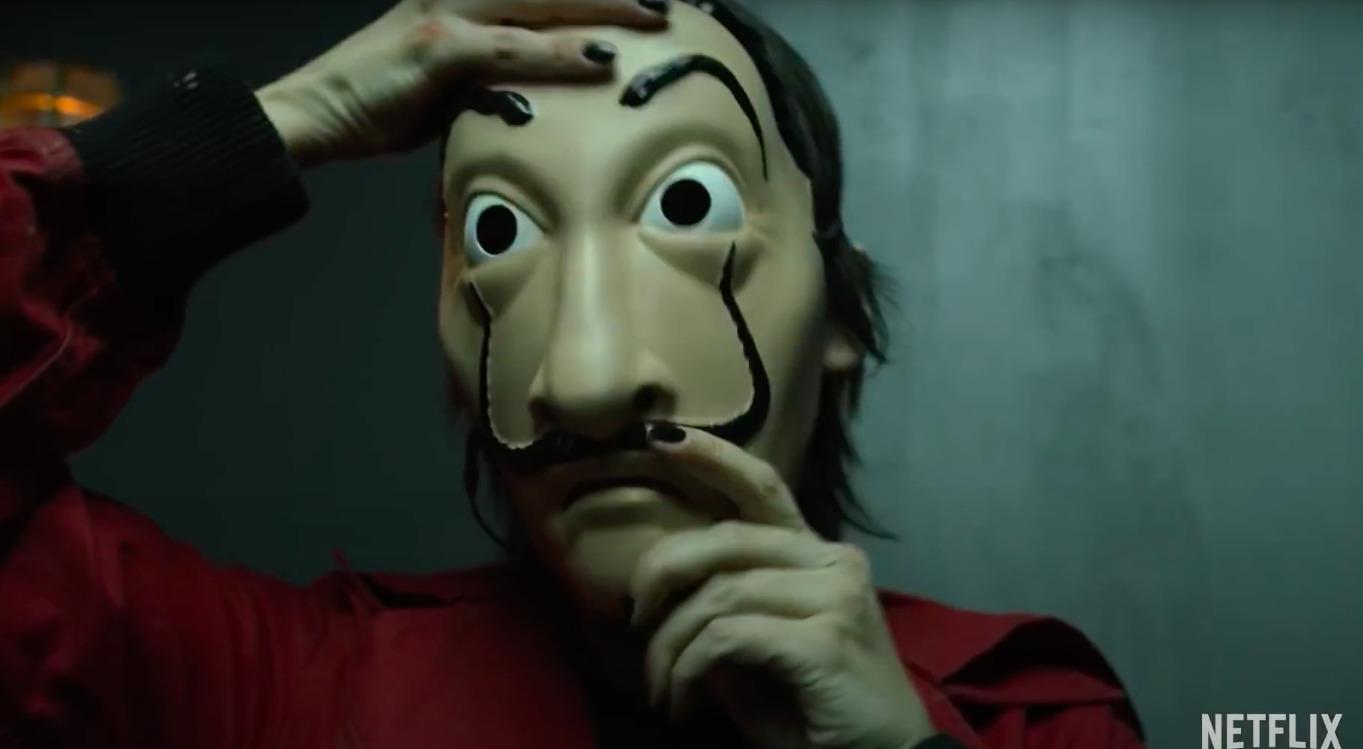 Masque Dali dans Casa de Papel