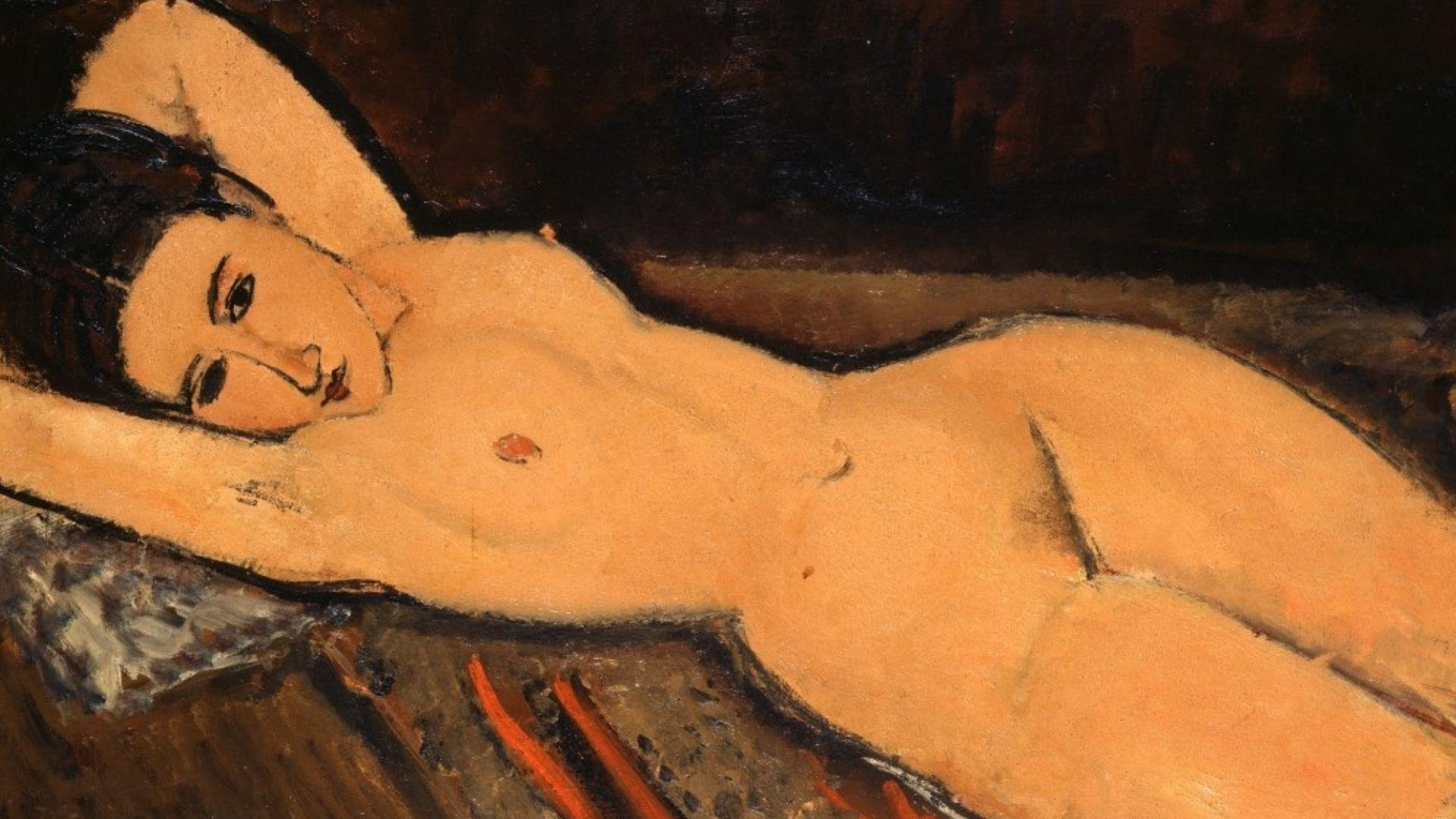 Nu couché (1916, huile sur toile 65,5 x 87 cm, Amedeo Modigliani , Collection Emil Bührle, Zurich)