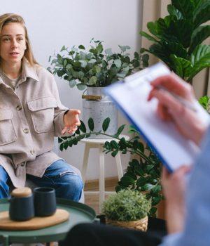 Patiente chez le psychologue