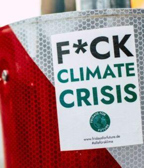 sticker fuck climate crisis