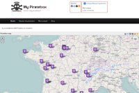 Une carte des PirateBox de France
