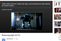 La Quadrature du Net censurée par le Robocop YouTube