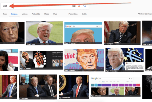 Google bombing : le mot « idiot » est associé aux photos de Donald Trump