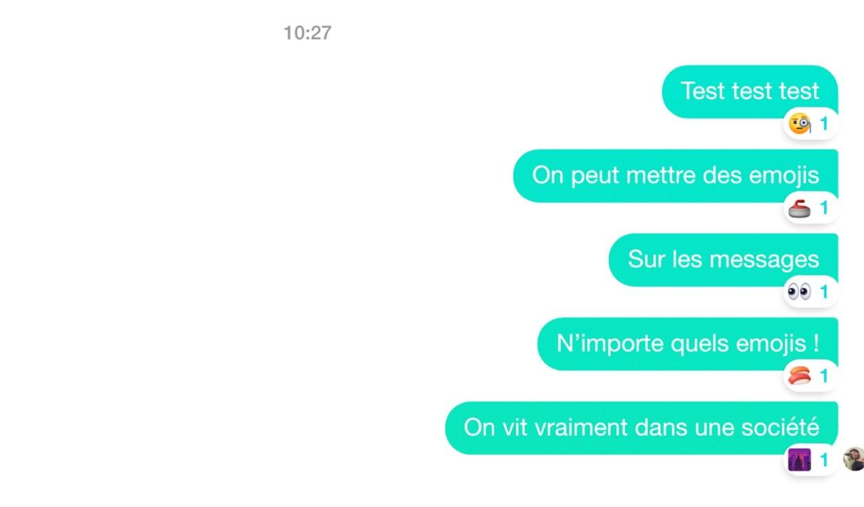 Sur Messenger Vous Pouvez Maintenant Mettre N Importe Quel Emoji En Reaction A Un Message